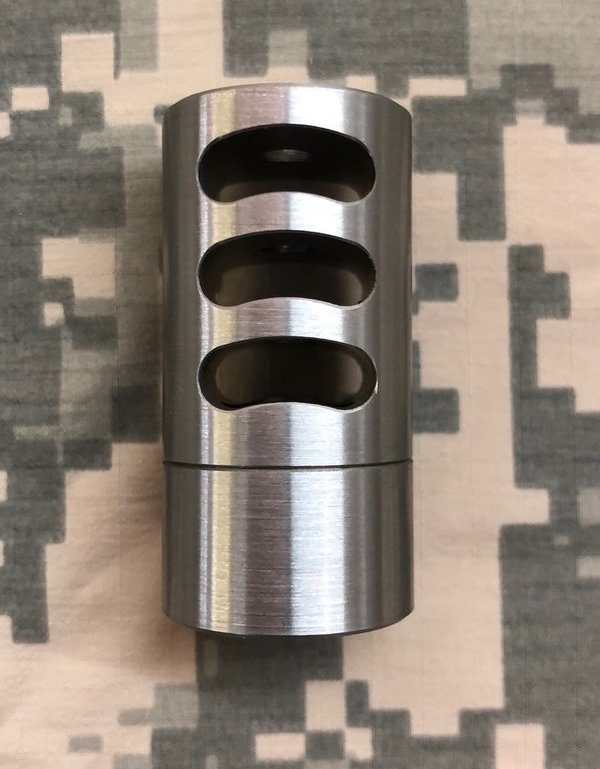 Self-Timing Tactical Muzzle Brake - 3 Port (Dia. 0.865)