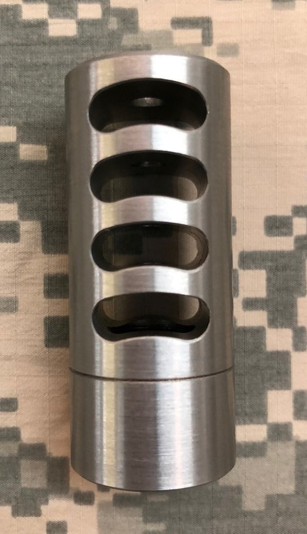 Self-Timing Tactical Muzzle Brake - 4 Port (Dia. 0.865)